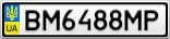 Номерной знак - BM6488MP