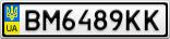 Номерной знак - BM6489KK