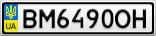 Номерной знак - BM6490OH