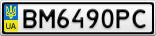 Номерной знак - BM6490PC