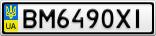 Номерной знак - BM6490XI
