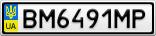 Номерной знак - BM6491MP