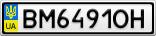 Номерной знак - BM6491OH