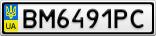 Номерной знак - BM6491PC