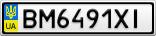 Номерной знак - BM6491XI