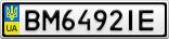 Номерной знак - BM6492IE