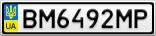 Номерной знак - BM6492MP