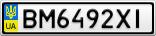 Номерной знак - BM6492XI