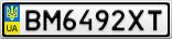 Номерной знак - BM6492XT