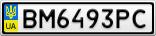 Номерной знак - BM6493PC