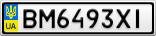 Номерной знак - BM6493XI