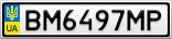 Номерной знак - BM6497MP