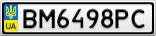 Номерной знак - BM6498PC