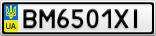 Номерной знак - BM6501XI