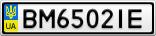 Номерной знак - BM6502IE