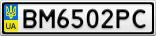 Номерной знак - BM6502PC