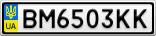 Номерной знак - BM6503KK