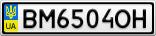 Номерной знак - BM6504OH