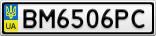 Номерной знак - BM6506PC