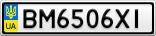 Номерной знак - BM6506XI