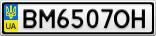 Номерной знак - BM6507OH
