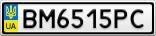 Номерной знак - BM6515PC