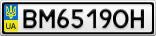 Номерной знак - BM6519OH