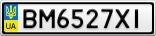 Номерной знак - BM6527XI
