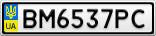 Номерной знак - BM6537PC