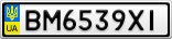 Номерной знак - BM6539XI