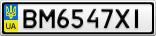Номерной знак - BM6547XI