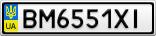 Номерной знак - BM6551XI