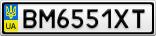 Номерной знак - BM6551XT