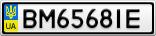 Номерной знак - BM6568IE