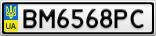 Номерной знак - BM6568PC
