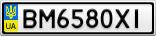 Номерной знак - BM6580XI