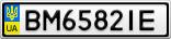 Номерной знак - BM6582IE