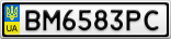 Номерной знак - BM6583PC