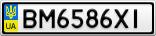 Номерной знак - BM6586XI