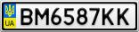 Номерной знак - BM6587KK
