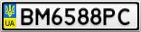 Номерной знак - BM6588PC