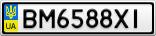 Номерной знак - BM6588XI