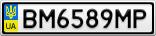 Номерной знак - BM6589MP