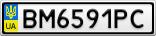 Номерной знак - BM6591PC
