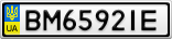 Номерной знак - BM6592IE