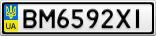 Номерной знак - BM6592XI