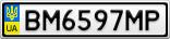 Номерной знак - BM6597MP