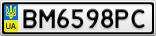 Номерной знак - BM6598PC