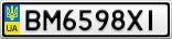 Номерной знак - BM6598XI