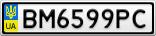 Номерной знак - BM6599PC